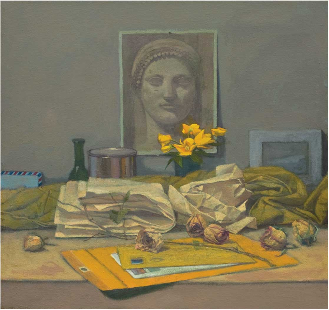 Gillian Pederson-Krag, Still Life, Oil on Canvas, 18 x 19 inches, 2005, Private