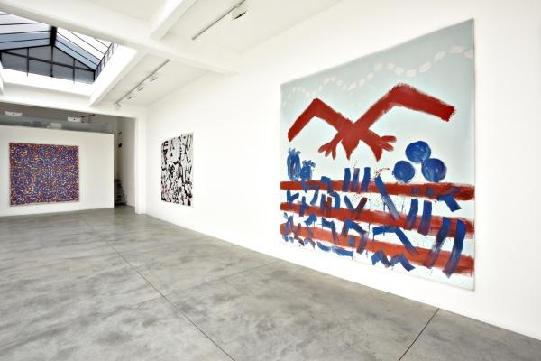 Installation View, A.R. Penck at Cardi Black Box, Milan