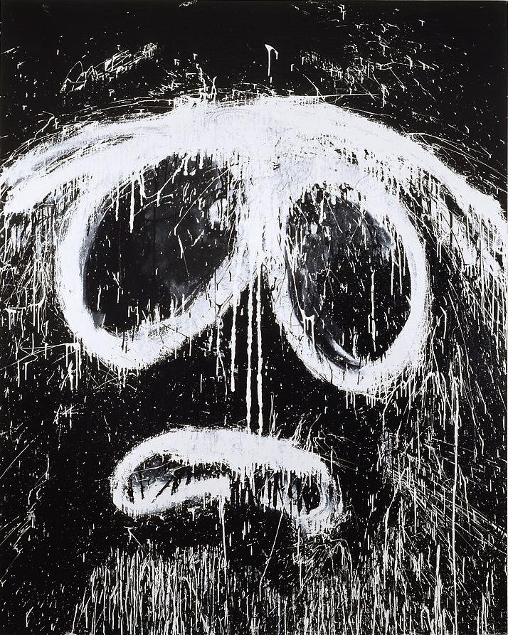 Joyce Pensato, Evil Stan, 2007, Enamel on Linen, 90 x 72 inches (courtesy of the