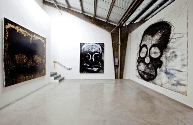 Installation view of the exhibition Joyce Pensato: I Killed Kenny at the Santa M