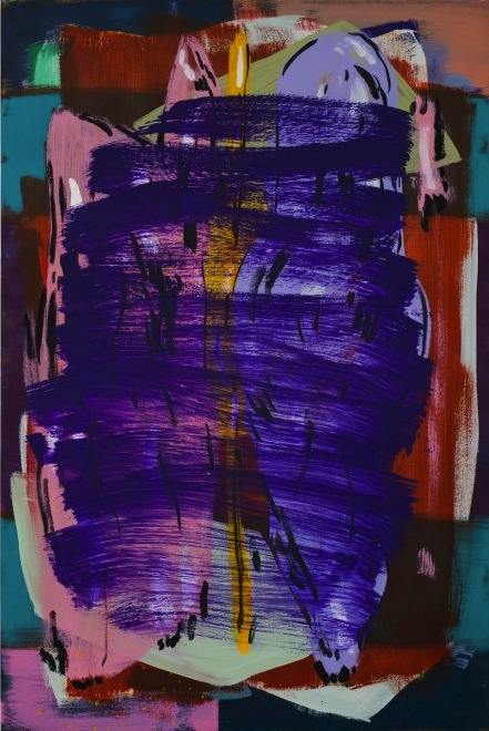 Jon Pestoni, Breathers, 2012, oil on canvas, 72 x 48 x 1.5 inches (courtesy of D