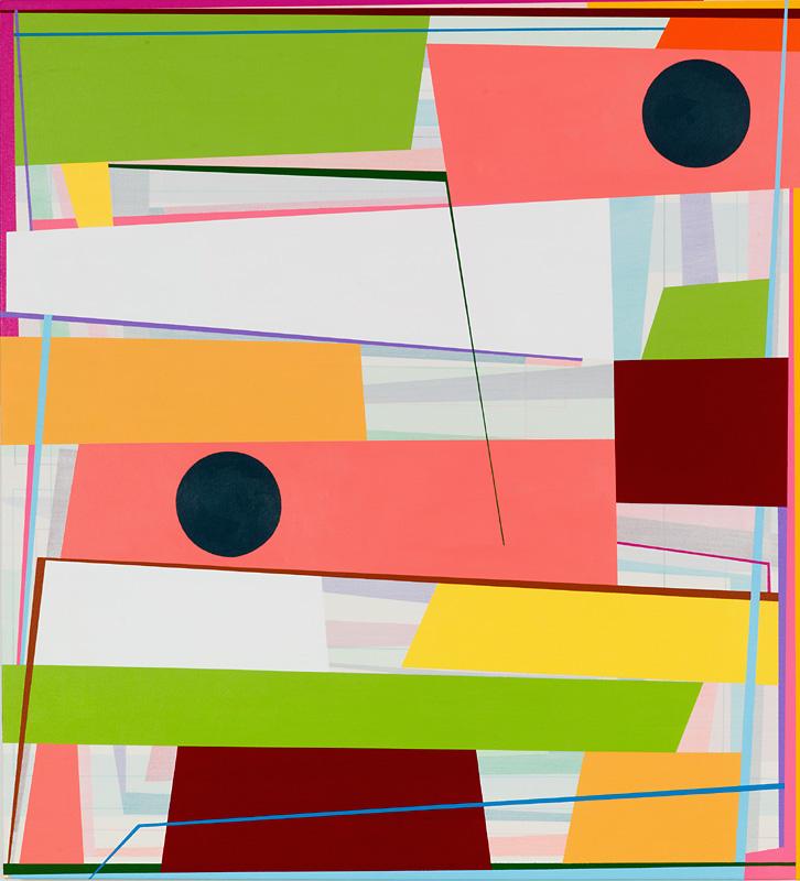Gary Petersen, Slip Stream 2, 2015, acrylic on canvas, 36 x 30 inches (courtesy of McKenzie Fine Art)