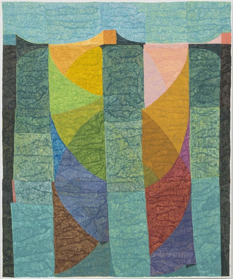Matt Phillips, The Kingston Line (II), pigment and silica on linen 24 x 20 inche