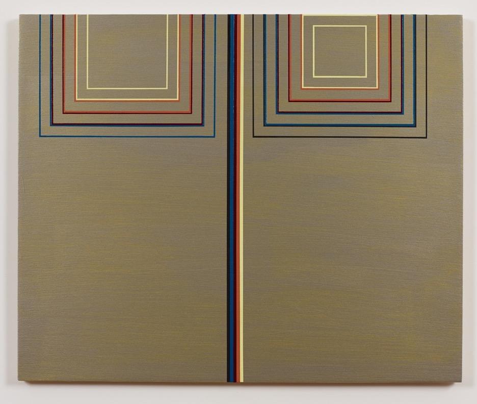 Ann Pibal, RBWC2, 2013, acrylic on aluminum, 10 1/2 x 17 inches (courtesy of Luc
