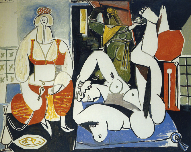 Pablo Picasso, Women of Algiers / Les femmes d'Alger, (after Delacroix) (version