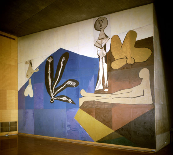 Picasso, The Fall of Icarus, 1958, acrylic on forty wooden panels, 910 x 1060 (U