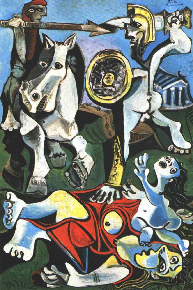 Pablo Picasso, Rape of the Sabine Women, 1962-1963, The Museum of Fine Arts, Bos