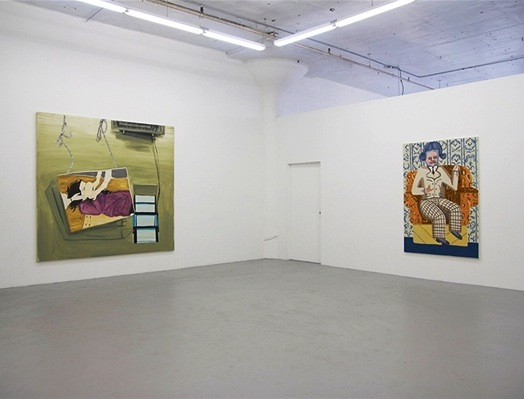 Installation View, Four Paintings: Picture Window at Regina Rex, Ridgewood, Quee