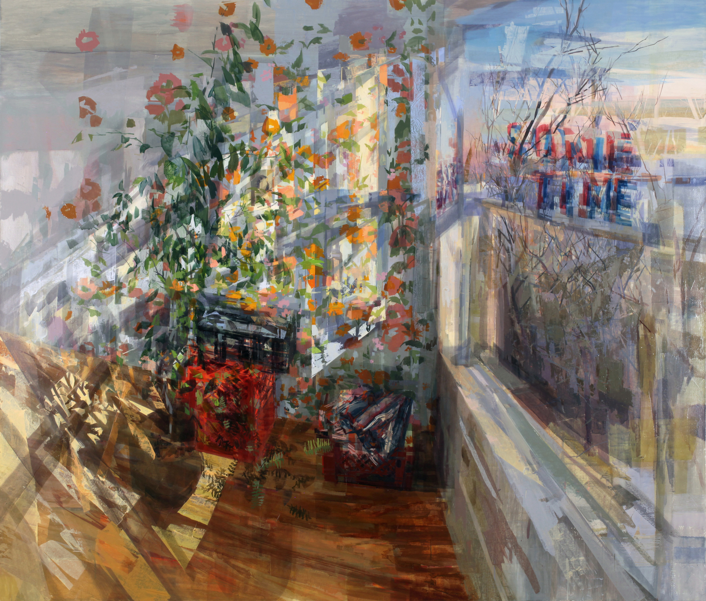 Stephanie Pierce, Howlinglight, oil on canvas, 71 x 84 inches (courtesy of Alpha