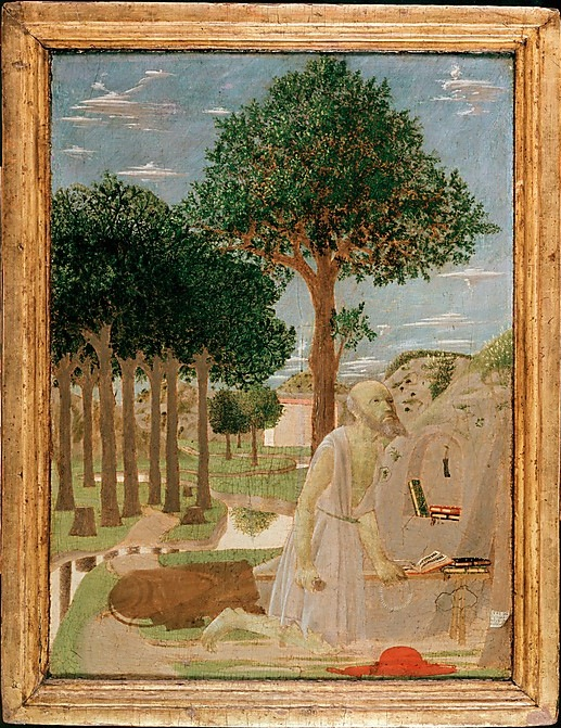 Piero della Francesca, Saint Jerome in the Wilderness, 1450, tempera on wood, 20