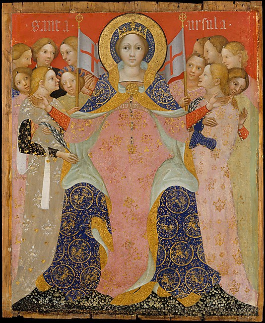 Niccolo di Pietro, Saint Ursula and Her Maidens, c. 1410, tempera and gold on wo