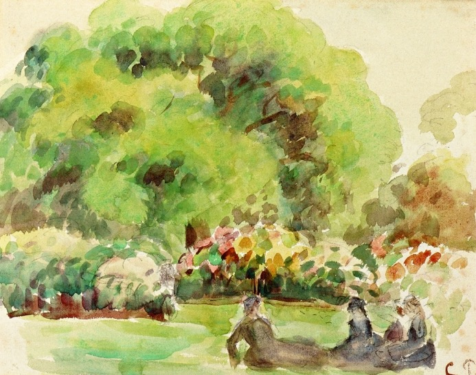 Camille Pissaro, Kew Gardens (London), circa 1892, watercolor on paper (Private