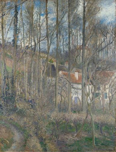 Camille Pissarro, La Côte des Boeufs, L'Hermitage, 1877 (The National Gallery, L