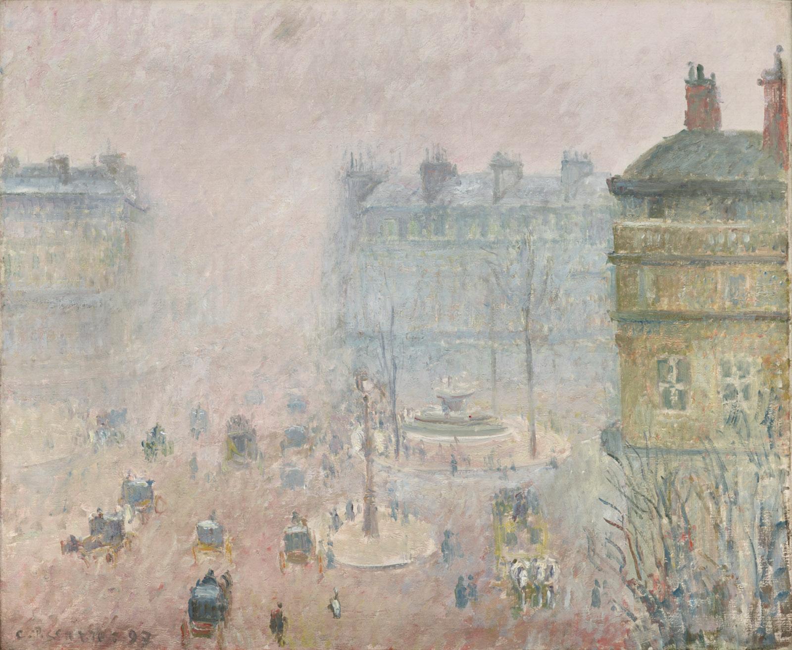 Camille Pissarro, Place du Théâtre-Français: Fog Effect, 1897 (Dallas Museum of Art)