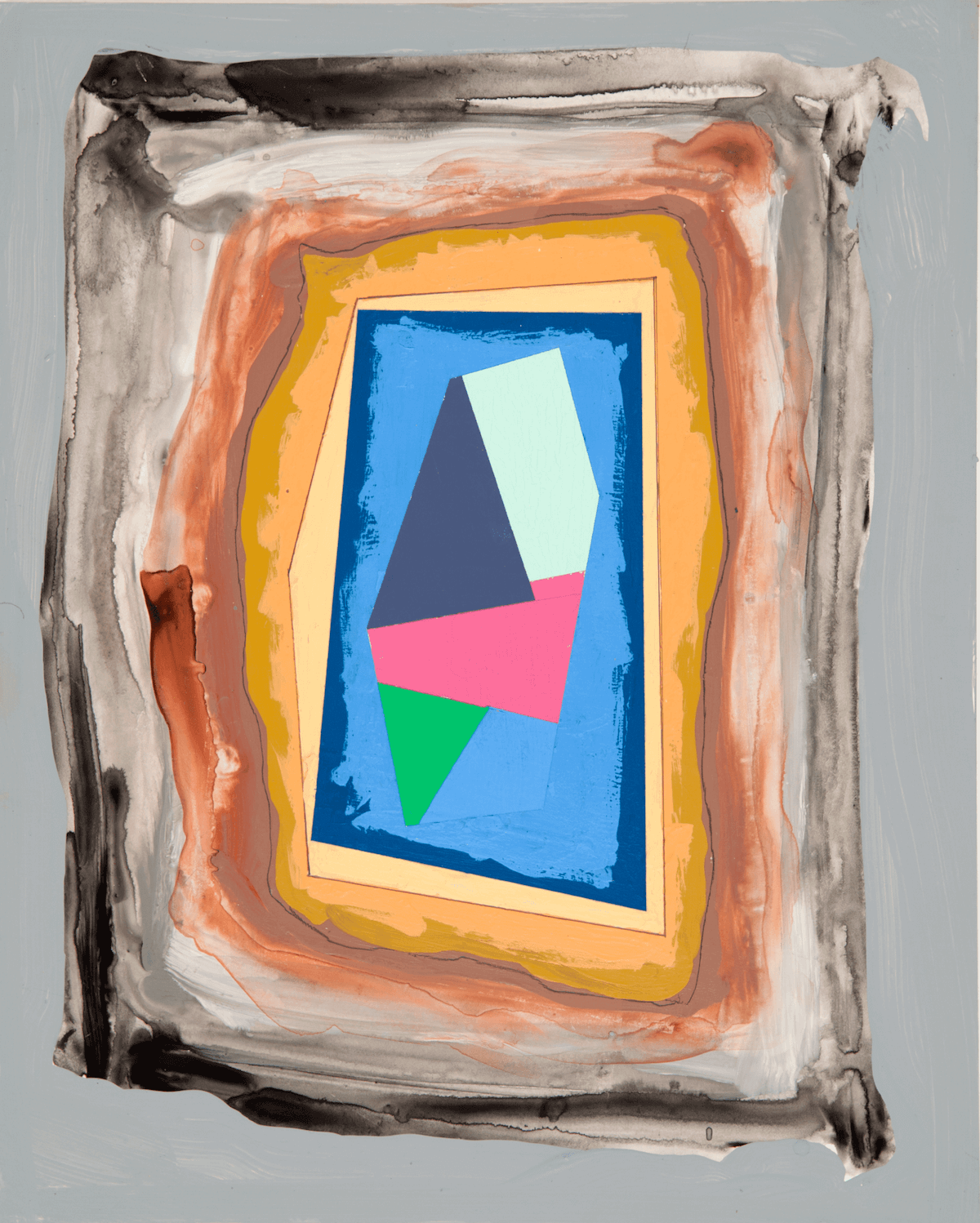 Peter Plagens, Study 7, 2013, acrylic on panel, 10 x 8 inches (courtesy of the artist and Nancy Hoffman Gallery)