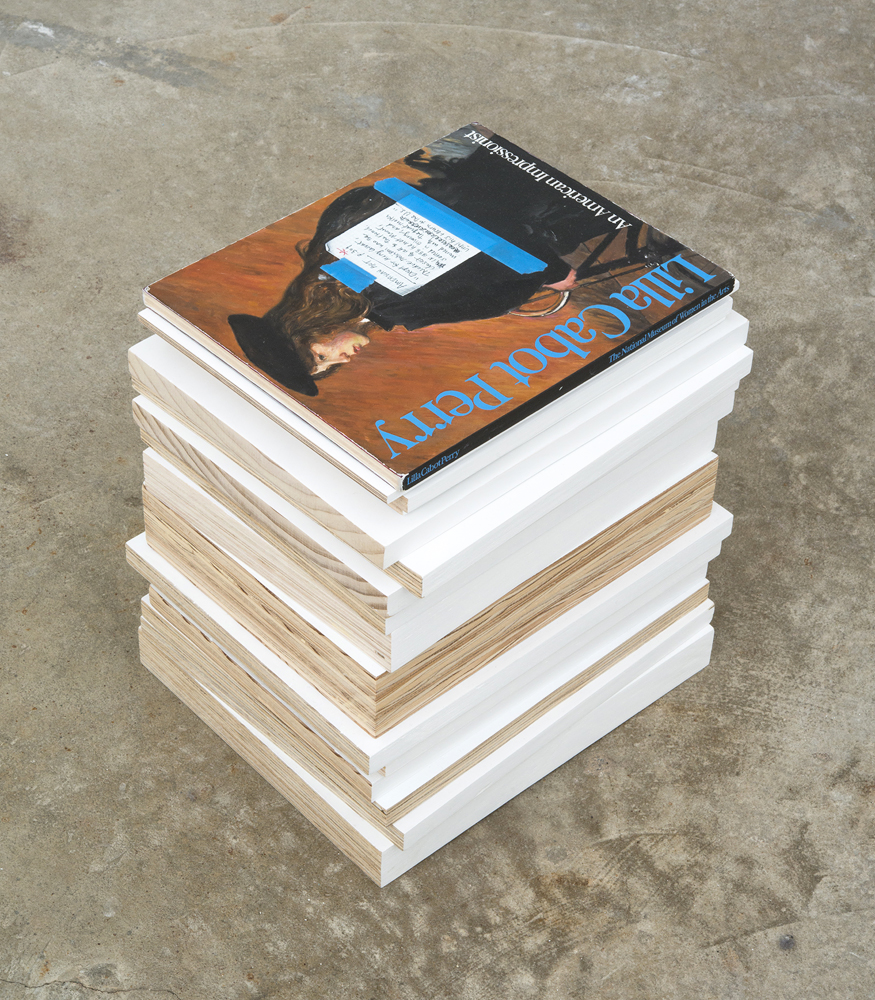 Anna Plesset, The Limitation of Fact: Stack 1, 2011-2012, oil on plywood and acr
