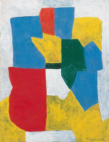 Serge Poliakoff, Composition Abstraite, 1969, gouache on paper, 24 x 18 1/8 inch