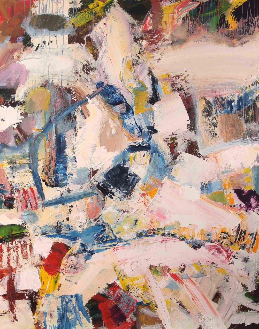 John Pollard, untitled, 2015, 150 x 120cm, acrylic on canvas (courtesy of the ar