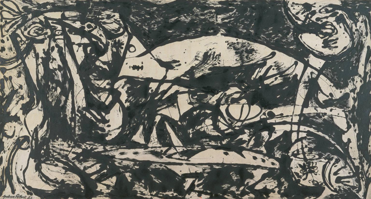 Jackson Pollock, Number 14, 1951, oil paint on canvas (© The Pollock-Krasner Fou