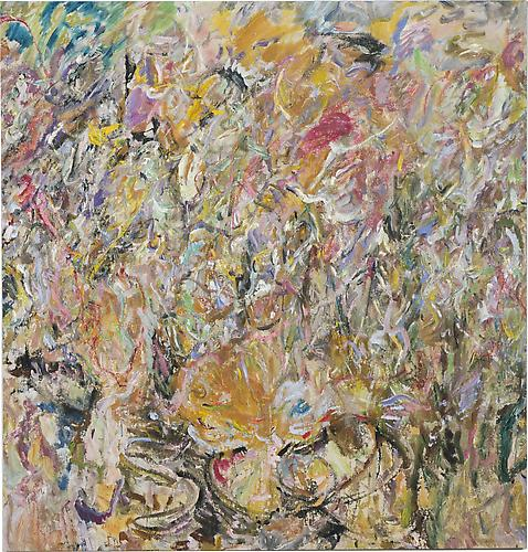 Larry Poons, Sweet Mountain Cat, 2013, acrylic on canvas, 65 1/2 x 62 1/2 inches