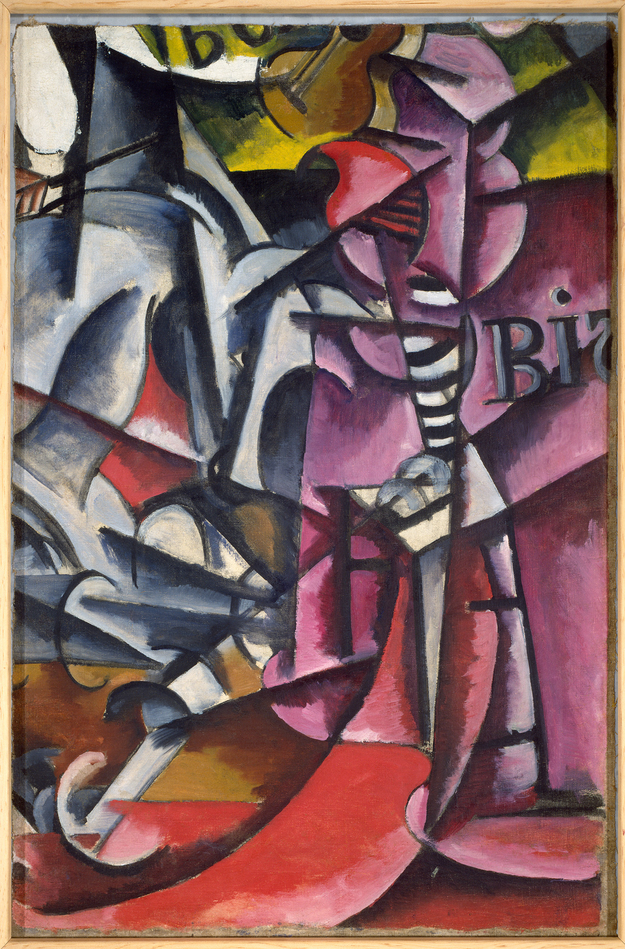 Liubov Popova, Untitled, (c.1915), oil on canvas, 41 7/8 x 28 inches (Solomon R.