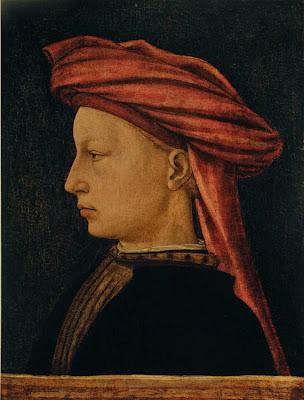 Florentine Artist (Piero Uccello?), Profile of a Man, c. 1430-40, tempera on woo