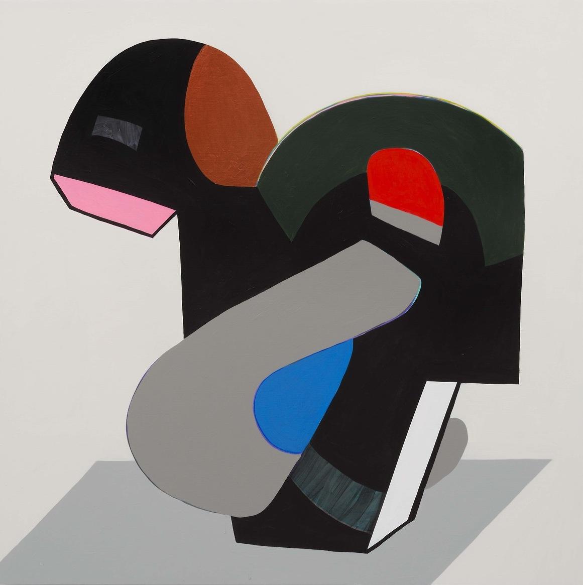 Hayal Pozanti, Technocream, acrylic on wood panel, 45 x 45 inches, 2014 (courtes
