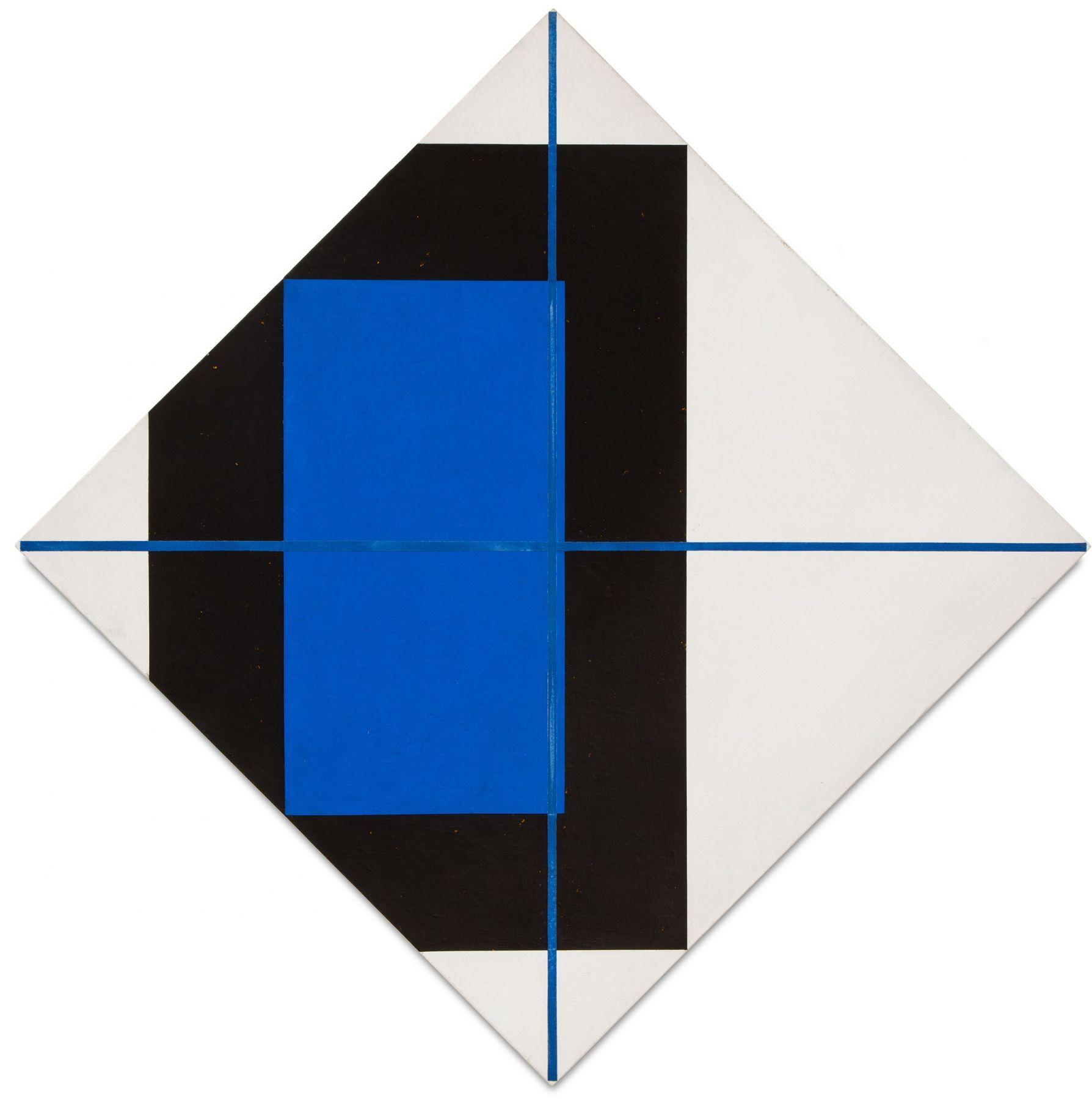 Harvey Quaytman, Hone, 1988, acrylic and ground glass on canvas, 65 x 65 inches (courtesy of Van Doren Waxter)