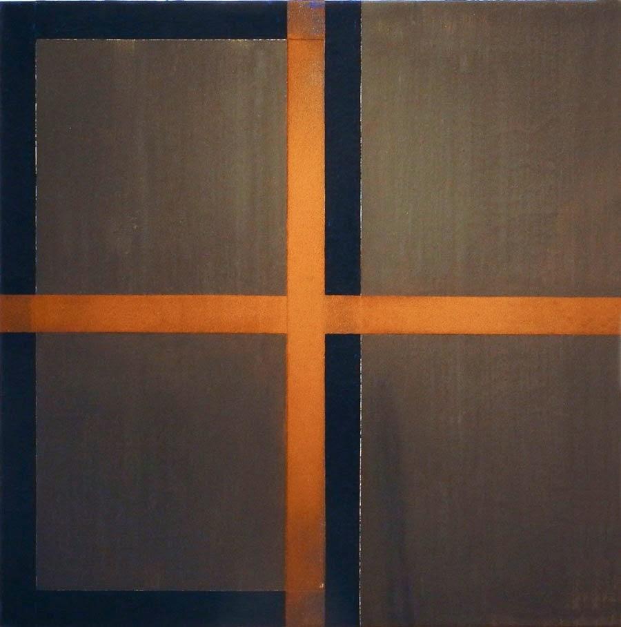 Harvey Quaytman, Pyrite Hallway, 1988, acrylic and rust on canvas, 29 x 29 inche