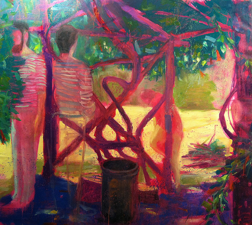 Kyle Ragsdale, Here, But Not Here, oil on canvas (courtesy of the artist)