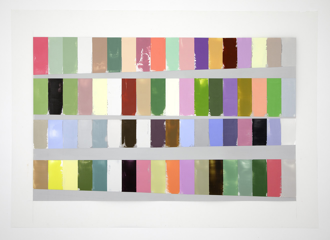 Debra Ramsay, A Year of Color, Adjusted for Daylength, 40 x 60 inches, acrylic o