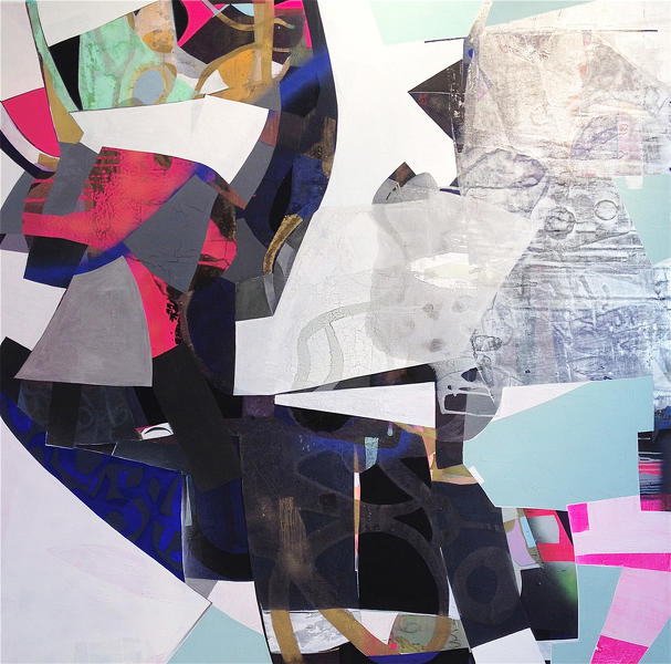 Erika Ranee, Thought Bubble, 2014, mixed media on canvas, 72 x 72 inches (courte