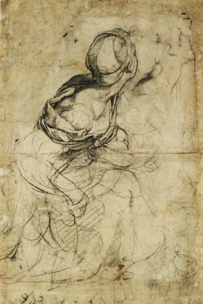 Raphael, A drawing of a woman with children, c.1512