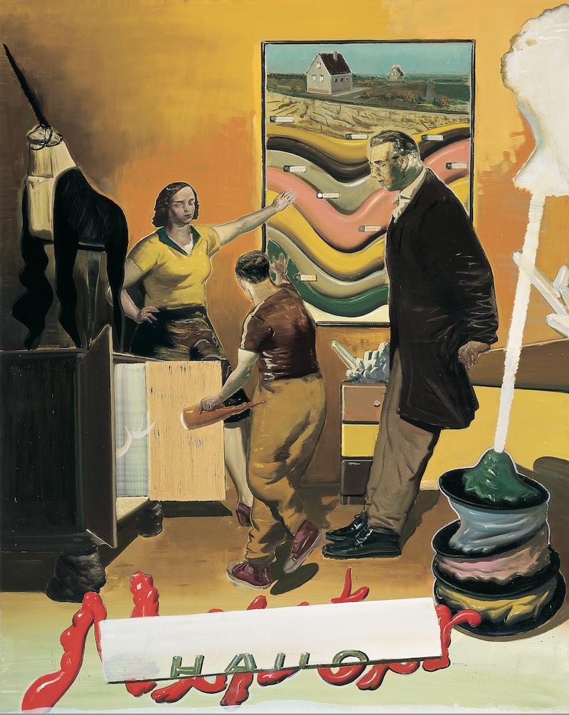 Neo Rauch, Hausmeister (courtesy of David Zwirner Gallery)