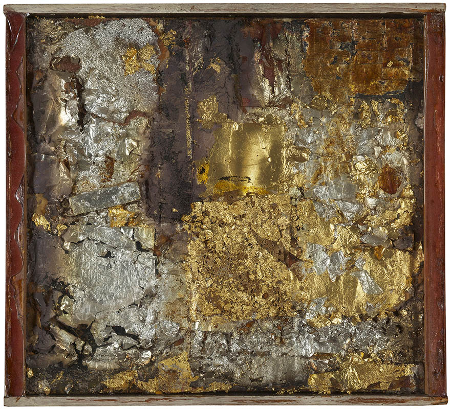 Robert Rauschenberg, Untitled (Gold Painting), c. 1953, Gold and silver leaf on