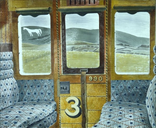 Eric Ravilious: Train Landscape, 1940 (Aberdeen Art Gallery & Museums Collection