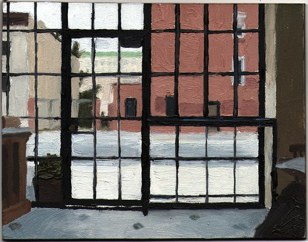 Eleanor Ray, March Windows, 2013, oil on panel, 4 x 5 inches (courtesy of the ar