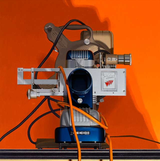 Harold Reddicliffe, Two Projectors and Extension Cords,  2008 16×16 inches, oil
