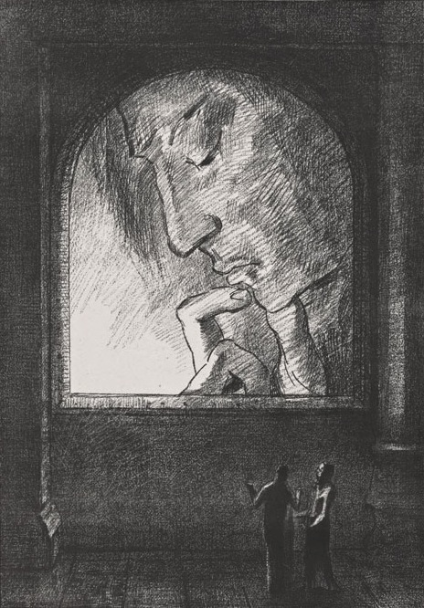 Odilon Redon, Lumière, 1893. Lithograph, 24.6 x 17.8 inches (sheet), The Getty R