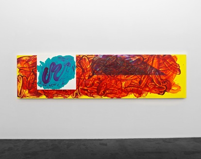 Installation view: David Reed at at Häusler Contemporary, Zürich (courtesy of th