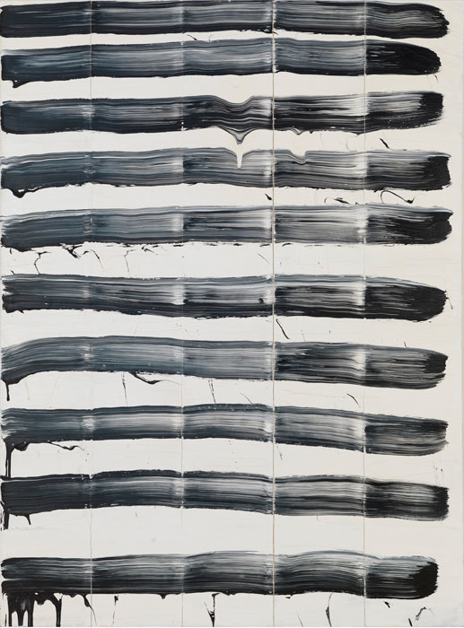 David Reed, #90, 1975, oil on canvas, 76 x 56 inches (Solomon R. Guggenheim Museum, New York. Gift of Elizabeth Richebourg Rea, in memory of Michal M. Rea  © 2017 David Reed / Artists Rights Society (ARS), New York, Photo by Rob McKeever)