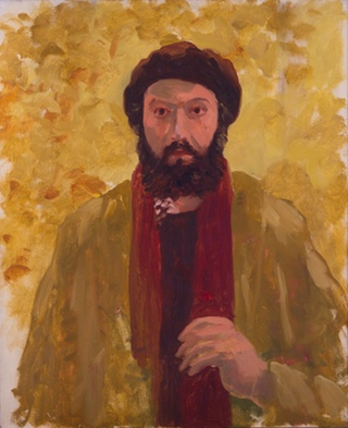 Paul Resika, Self Portrait, 1974, oil on canvas, 24 x 19.75 inches (courtesy Ste