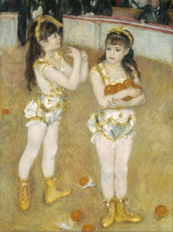 Pierre-Auguste Renoir, Acrobats at the Cirque Fernando (Francisca and Angelina W