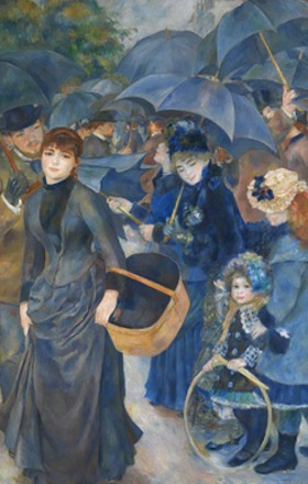 Pierre-Auguste Renoir, The Umbrellas, c. 1881 and 1885, Oil on canvas, 71 x 45 i
