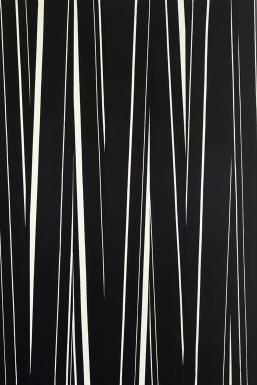 David Rhodes, Untitled 10.4.16, 2016, acrylic on raw canvas, 118 x 78 inches (co