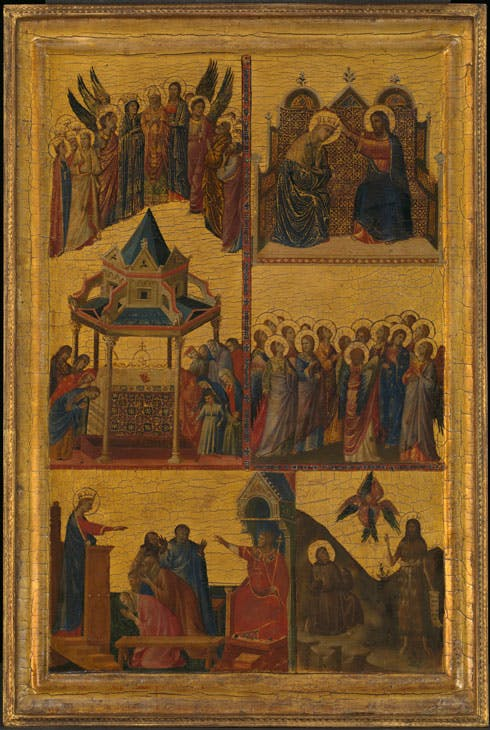 Giovanni da Rimini, Scenes from the Lives of the Virgin and other Saints, c. 1300-05, (courtesy of the National Gallery, London)