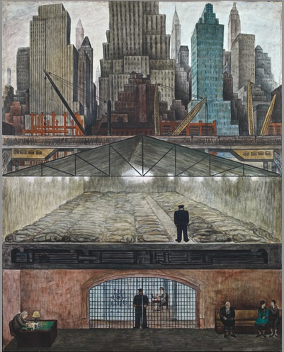 Diego Rivera. Frozen Assets, 1931, Fresco on reinforced cement in a galvanized-s