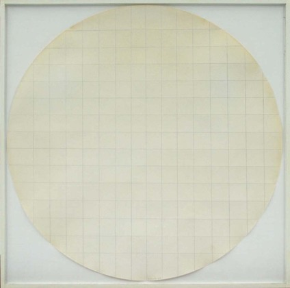 Robert Ryman, Eagle Turquoise 7H#4, 1966, Pencil on coffee filter paper with art
