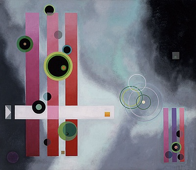 Rolph Scarlett, Allegro, Oil on canvas, 64 x 74 inches, c. 1944, collection of t
