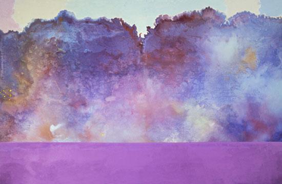 Ronnie Landfield, Diamond Lake, 1969, Acrylic on canvas, 108 x 168 inches, Museu
